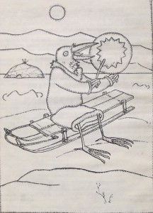 Мальчиков унесло на льдине.Эскимосская сказка.