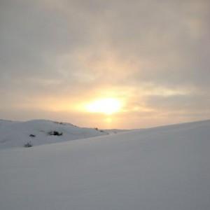 Зимнее солнце.В.Тынескин.Поэты Чукотки