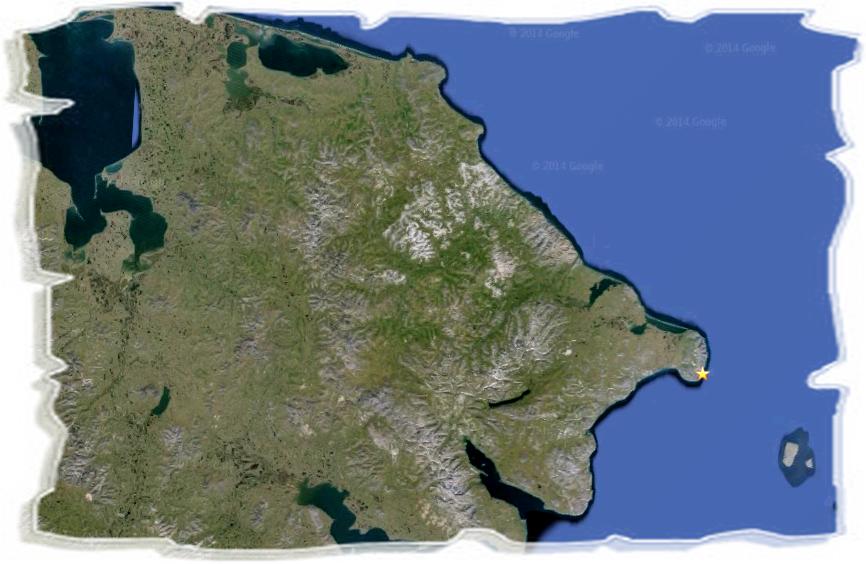 Географические названия Чукотки. Северное побережье Чукотского района.